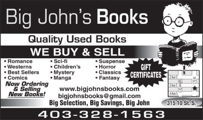 Big John's Books ad